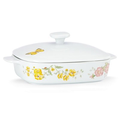 Lenox  BUTTERFLY MDW DW SQUARE COVERED CASSEROLE 11.75 l,2 w,9 d