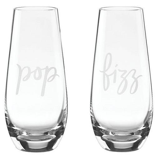 Kate Spade STEMLESS CHAMPAGNE POP/FIZZ S/2