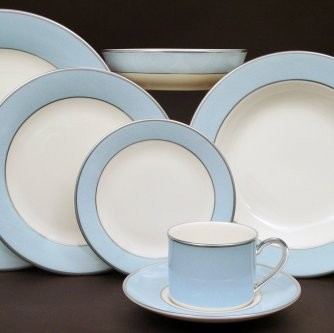 Pickard ColorBurst Blue Platinum Ivory Charger Plate