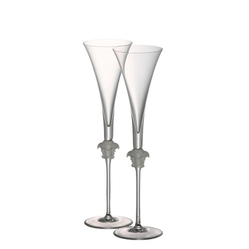 Versace Medusa Lumiere Champagne Flute Set of Two