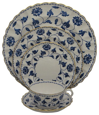 Spode Blue Colonel (Gold) 5Pc Place Setting