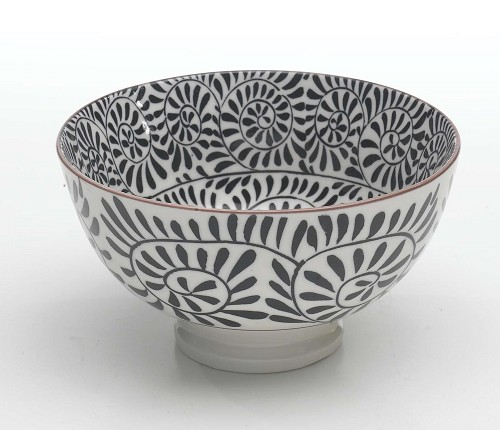 Zafferano Tue Bowl Small Fantasy Black