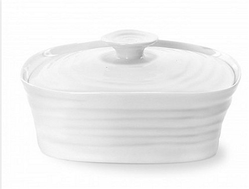 Portmeirion Sophie Conran White Covered Butter