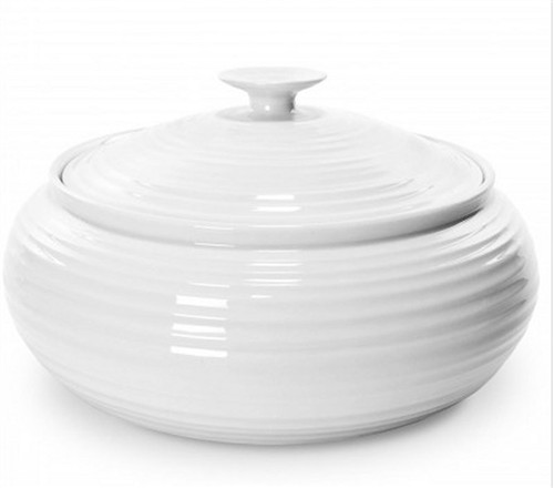 Portmeirion Sophie Conran White Casserole, Covered Low