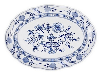 Meissen Blue Onion Oval Platter, 16.5 in.