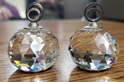 SWAROVSKI Set Of Two Crystal Placecard Holders