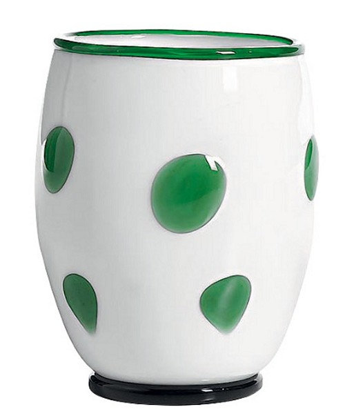 Zafferano Bon Bon Tumbler White With Green Dots - pair